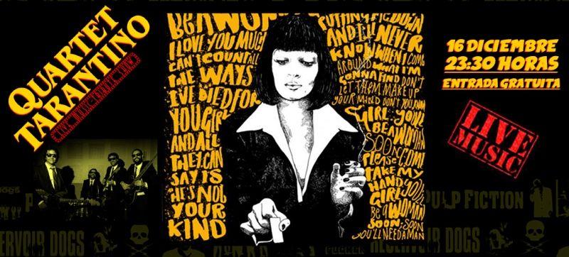 Concierto Quartet Tarantino. El día 16 de Diciembre 2017. Quartet Tarantino surge de la unión de cuatro músicos de gran trayectoria que ofrecen un espectáculo divertido  y con gran calidad.