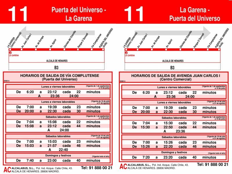 Línea 11 Alcalá de Henares, La Garena