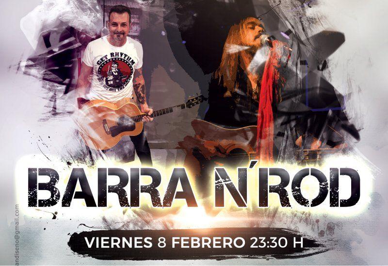 BARRA N'ROD en concierto. Viernes 8 Febrero 2019 a las 23:00h