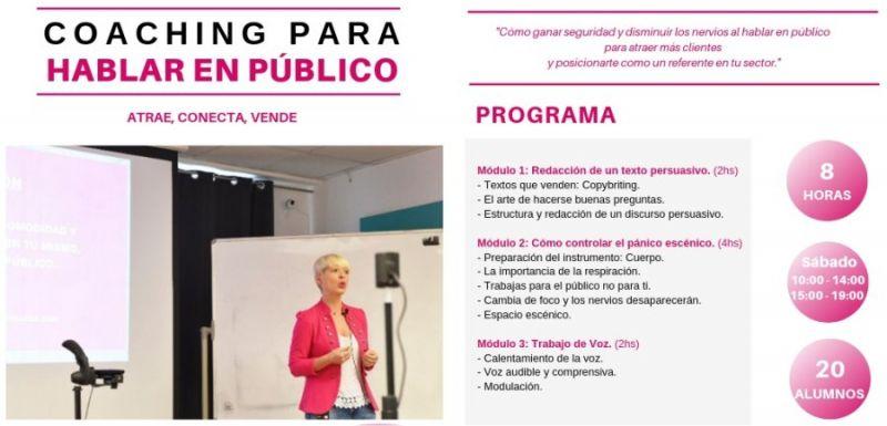"""Mireia Murguiondo nos presenta un taller intensivo de 8 horas para el sábado 1 de junio """"COACHING PARA HABLAR EL PÚBLICO: Atrae, conecta, vende"""". Este taller es el mismo que imparte en distintas Universidades de Madrid, como el Instituto de Empresa (IE), C"""