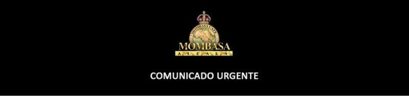 Comunicado urgente Mombasa