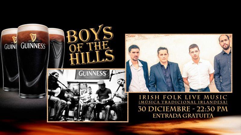 Boys of the Hills, una de las bandas referencia del folk irlandés en España, vuelve al ataque en Temple Bar Street con motivo del cierre de programación musical del 2017.