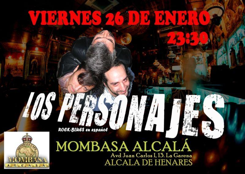 Concierto de Los Personajes, Rock-Blues en Español, en Mombasa Alcalá