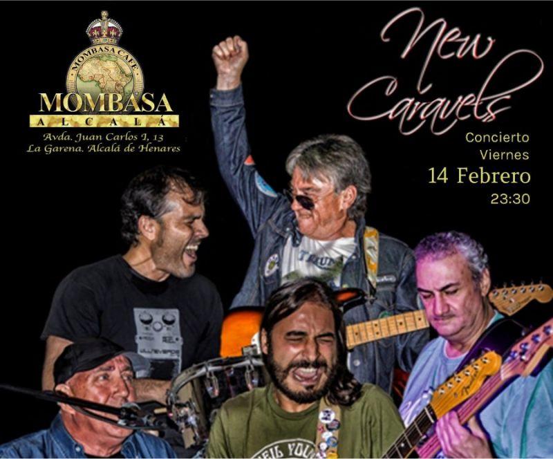 Concierto de New Caravels, el día de los enamorados, en Mombasa Alcalá