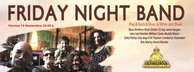 Friday Night Band en concierto el viernes 10 Noviembre 2017 en Mombasa Alcalá