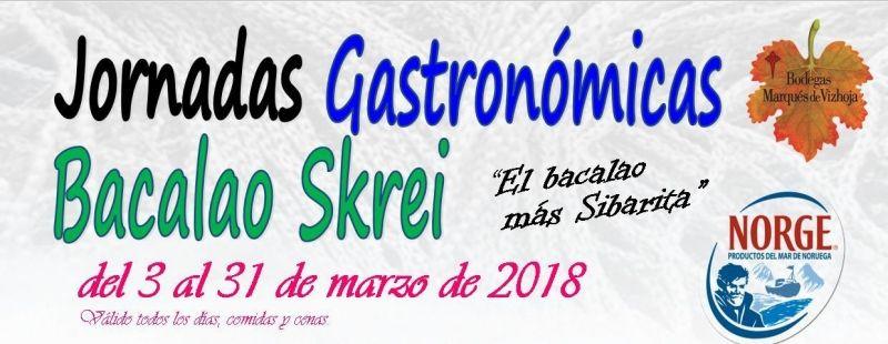Jornadas Gastronómicas Bacalao Skrei restaurante Faro de Fisterra mes de Marzo 2018