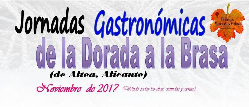 Jornadas Gastronómicas de la Dorada a la Brasa (de Altea, Alicante). Noviembre 2017 en el restaurante Faro de Fisterra.