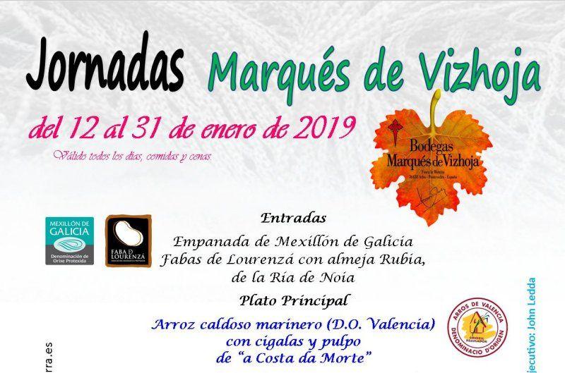 Jornadas Marqués de Vizhoja del 12 al 31 de enero 2019