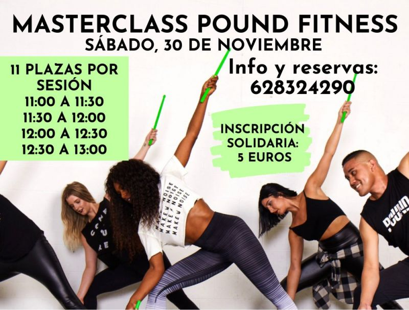 Masterclass pound fitness, 30/11/2019 en hotel Campanile