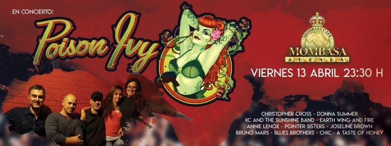 Poison Ivy en concierto, viernes 13 Abril 2018 en Mombasa, Alcalá de Henares