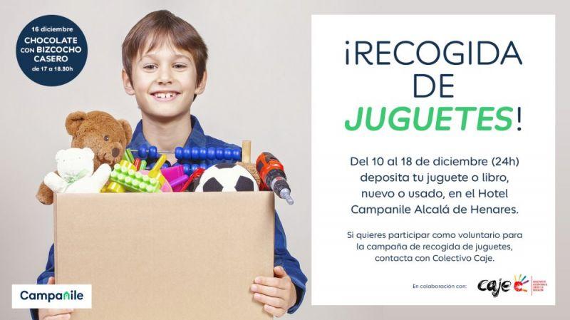 Recogida de juguetes en el Hotel Campanile de Alcalá de Henares