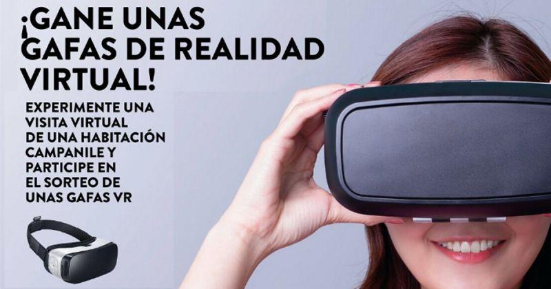Experimenta una visita virtual de una Habitación Campanile y participe en el sorteo de unas Gafas VR