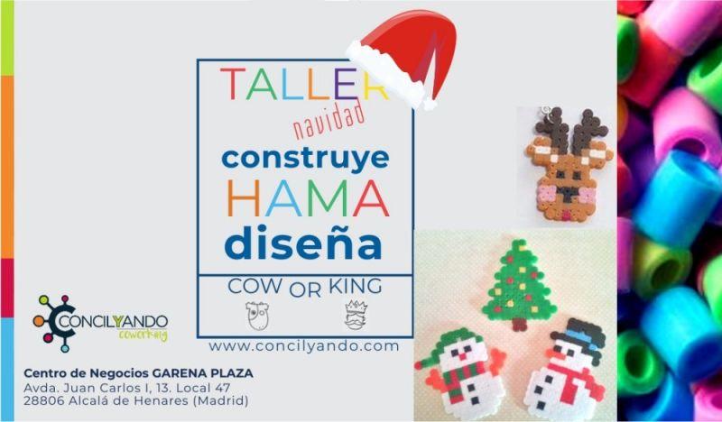 Taller de adornos de Navidad con Hama Beads, 24 noviembre 2019 en Conilyando
