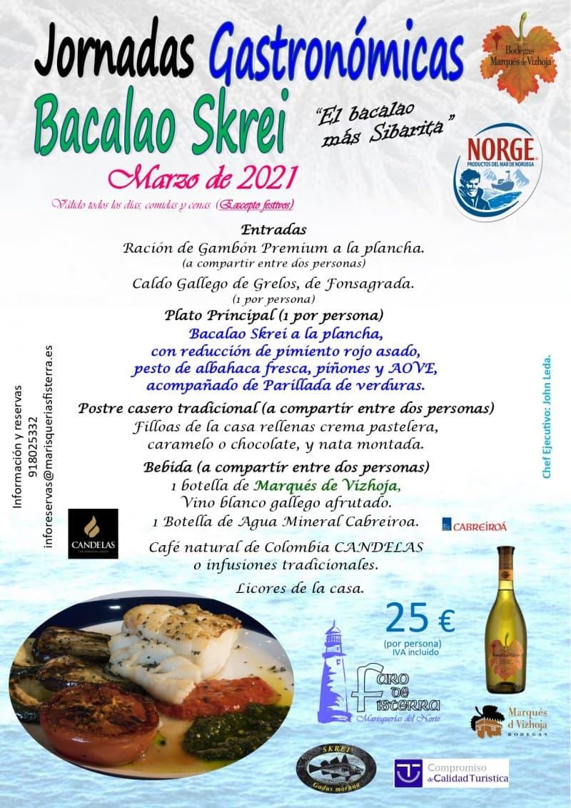 Jornadas Gastronómicas Bacalao Skrei, marzo 2021